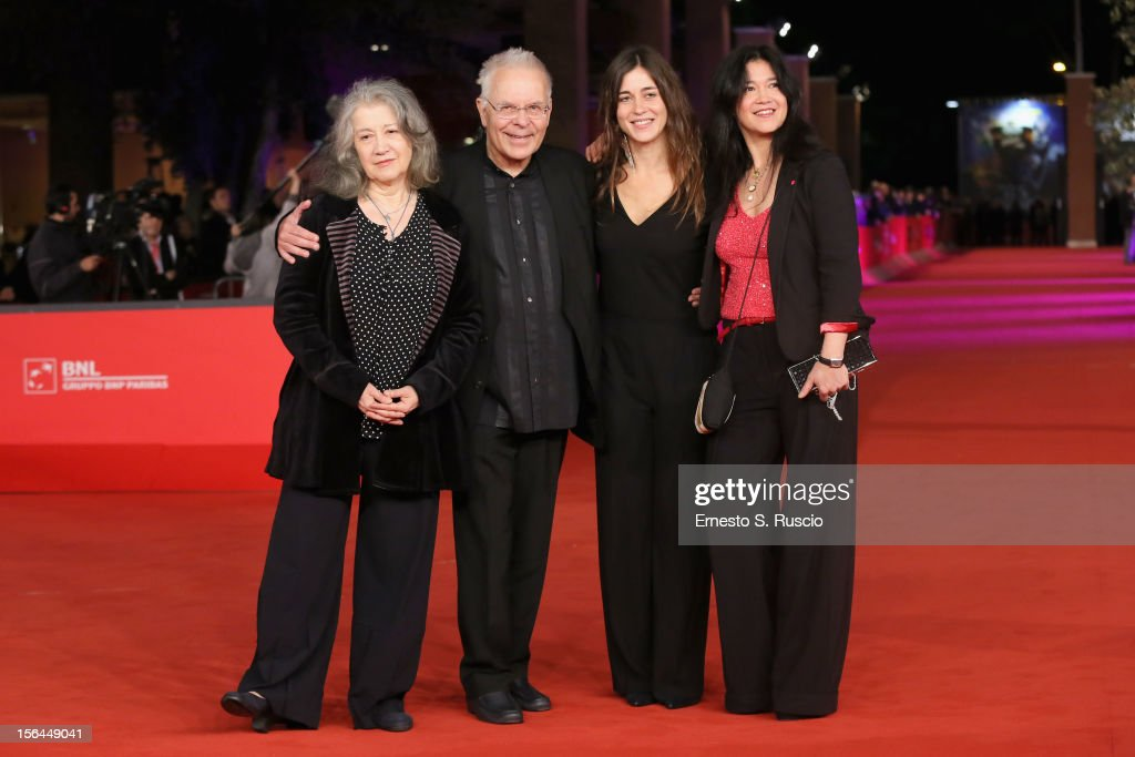 Martha Argerich, Stephen Kovacevich, Stephanie Argerich and Lyda Chen attend the 'Bloody Daughter' Premiere during the 7th Rome Film Festival at the Auditorium Parco Della Musica on November 15, 2012 in Rome, Italy.