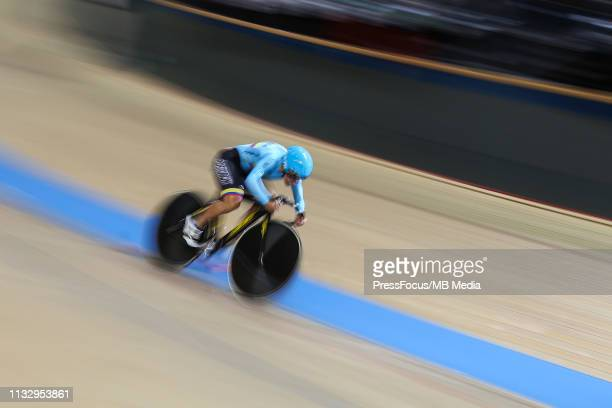 Martha Bayona Pineda during UCI Track Cycling World Championships on February 28 2019 in Pruszkow Poland