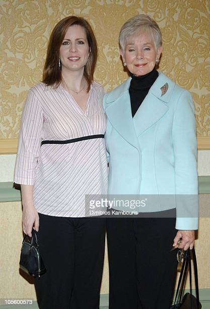 Martha Byrne and Kathryn Hays during 25th Annual Muse Awards for Outstanding Vision Achievement at Hilton Hotel in New York City New York United...