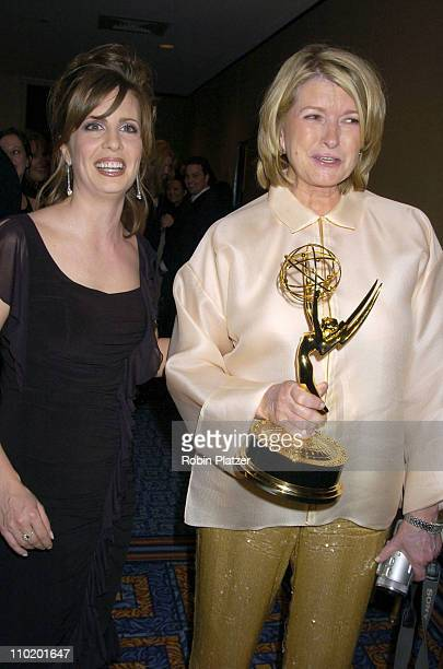 Martha Byrne and Martha Stewart during 31st Annual NATAS Daytime Emmy Craft Awards at The Marriott Marquis Hotel in New York, New York, United States.