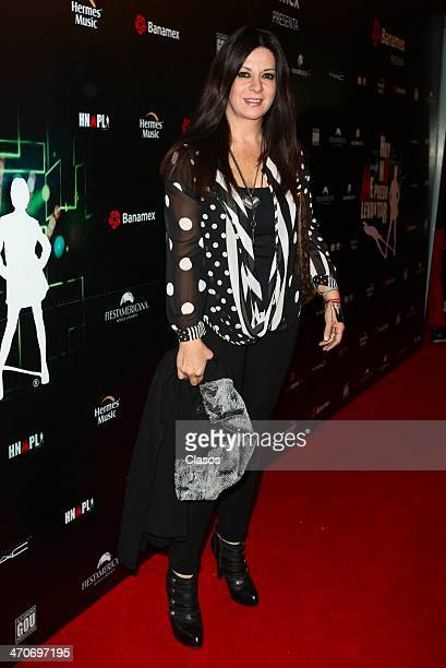 Martha Carrillo attends the red carpet of Hoy no me puedo levantar at Almada Theater on February 18 2014 in Mexico City Mexico