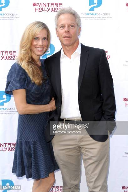 Martha Champlin and actor Greg Germann attend the Vintage Hollywood Wine Food Tasting to benefit to benefit The People Concern on June 10 2017 in Los...