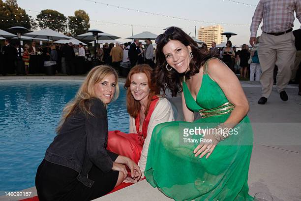 Martha Champlin and actresses Marcia Cross attend the Vintage Hollywood Fundraiser for Ocean Park Community Center at David Arquette's home on June 9...