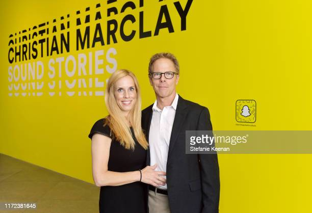 Martha Champlin and Greg Germann at the US premiere of Christian Marclay Sound Stories an immersive audiovisual exhibition fusing art and technology...