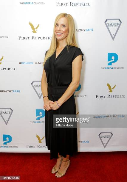 Martha Champlin attends The People Concern's Celebrating Change Gala at Casa Vertigo on April 29 2018 in Los Angeles California