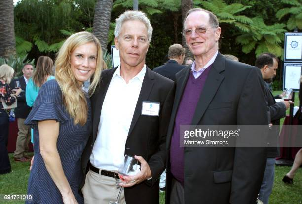 Martha Champlinactor Greg Germann and guest attend the Vintage Hollywood Wine Food Tasting to benefit to benefit The People Concern on June 10 2017...