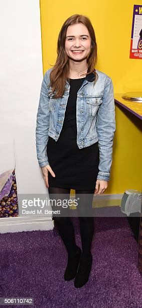Martha Collinson attends the launch of the Cadbury Creme Egg Cafe in Soho on January 21 2016 in London England