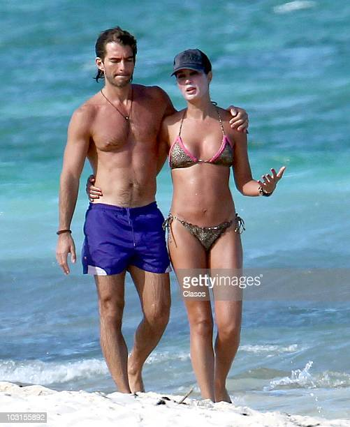 Martha Cristina and husband in the beach on July 19 2010 in Cancun Mexico