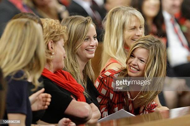 Martha De Laurentiis wife of Italian film mogul and Hollywood producer Dino De Laurentiis and daughters Carolyna De Laurentiis and Dina De Laurentiis...