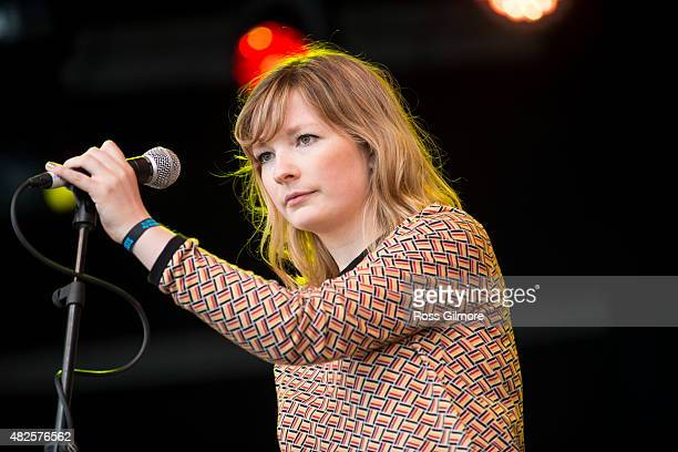 Martha Ffion performs on the main stage at the Wickerman festival at Dundrennan on July 25, 2015 in Dumfries, Scotland.