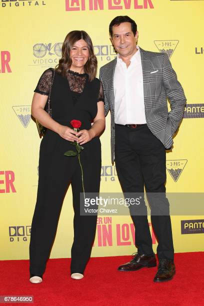 Martha Figueroa and Juan Jose Origel attend the How To Be A Latin Lover Mexico City premiere at Teatro Metropolitan on May 3 2017 in Mexico City...