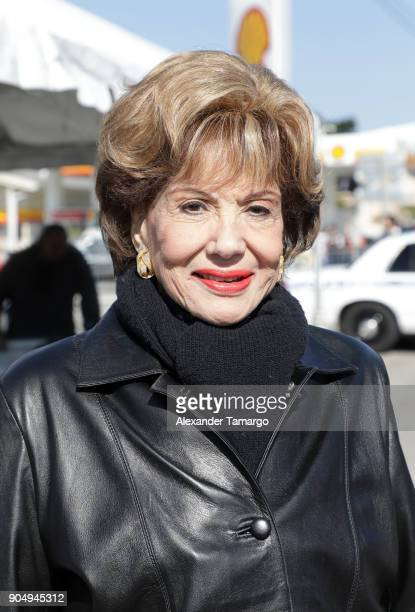 Martha Flores is seen at the 2018 Three Kings Day Parade on January 14 2018 in Miami Florida