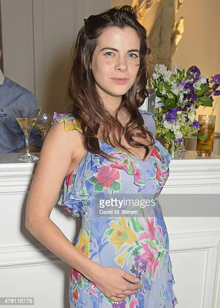 Martha Freud attends The Ralph Lauren Vogue Wimbledon Summer Cocktail Party hosted by Alexandra Shulman and Boris Becker at The Orangery at...