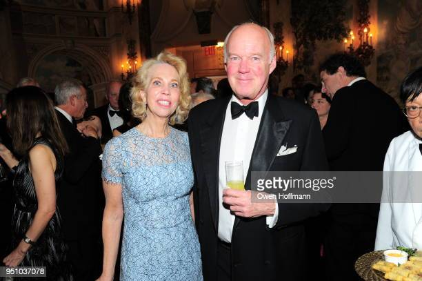 Martha Glass and John Glass attends The Hort's New York Flower Show Dinner Dance at The Pierre Hotel on April 24 2018 in New York City