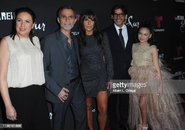 Martha Godoy Humberto Zurita Kate Del Castillo Marcos Santana and Isabella Sierra arrives for th LA Premiere Of Telemundo's La Reina Del Sur Season 2...