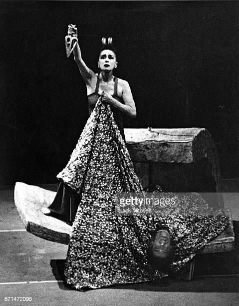 Martha Graham and dancers performing 'Judith' November 3 1965