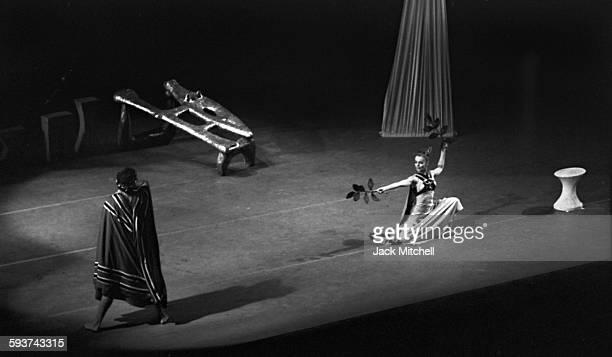 Martha Graham and her dance company performing 'Night Journey' on February 28 1967