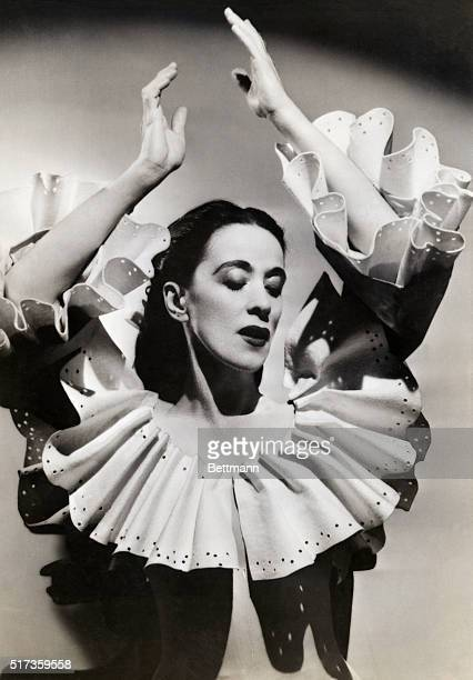 Martha Graham dancer and choreographer credited with the invention of modern dance choreography in the United States In this photo she poses in...