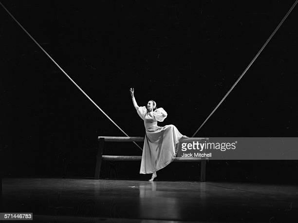 Martha Graham dancer Ethel Winter performing 'Frontier' in August 1964