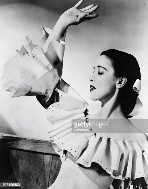 Martha Graham noted innovator in modern dance as the young bride in her ballet 'Appalachian Spring' Undated photograph Composer Aaron Copland