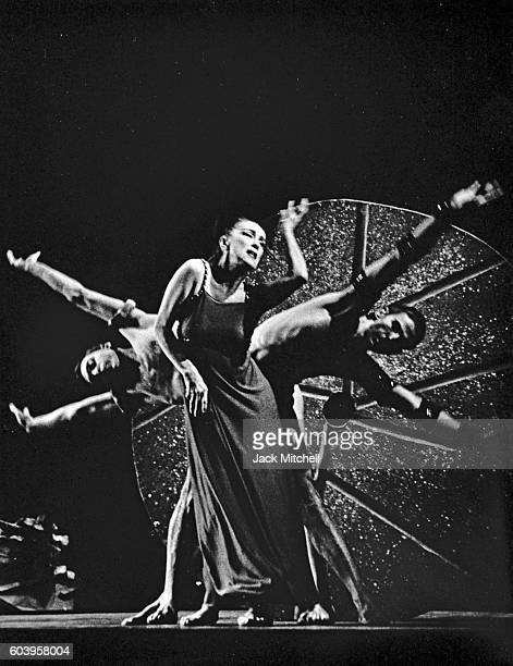 Martha Graham Paul Taylor and Bertram Ross performing her Greek mythological ballet Alcestis 1962