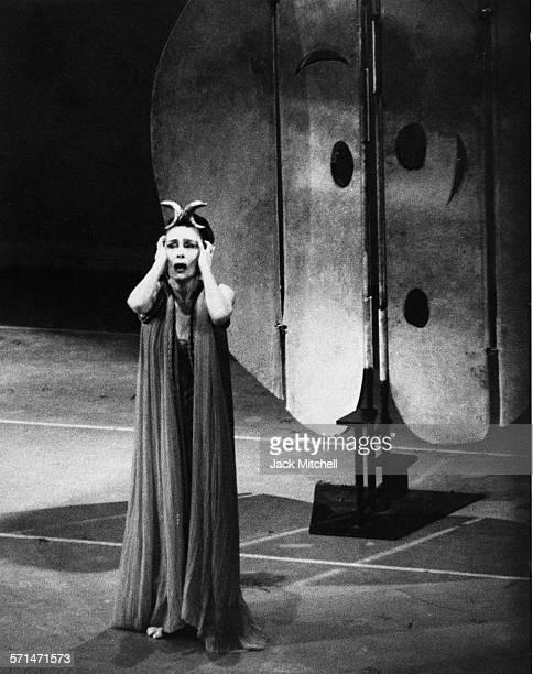Martha Graham performing 'Phaedra' in 1966