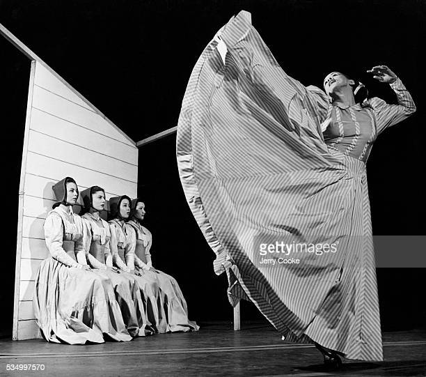 Martha Graham performs her signature dance Appalachian Spring at a theater in Manhattan Composer Aaron Copland