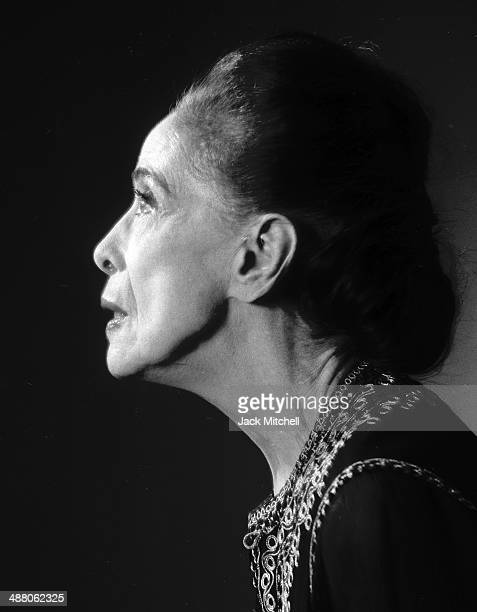 Martha Graham photographed in April 1973