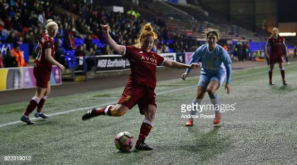 Martha Harris of Liverpool Ladies during the FA WSL match between Liverpool Ladies and Sunderland Ladies at Select Security Stadium on February 21...