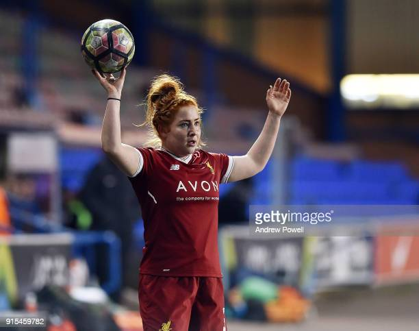 Martha Harris of Liverpool Ladies during the Women's Super League match between Liverpool Ladies and Arsenal Women at Select Security Stadium on...