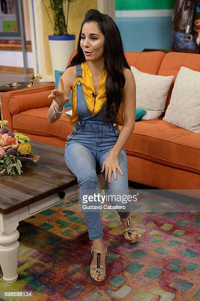 Martha Higareda are seen on the set of 'Despierta America' to promote the film 'No Manches Frida' at Univision Studios on September 1 2016 in Miami...