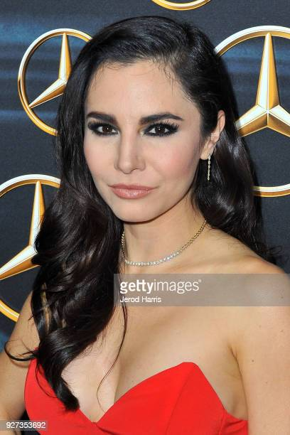 Martha Higareda arrives at MercedezBenz USA's Official Awards Viewing Party at Four Seasons Hotel on March 4 2018 in Beverly Hills California