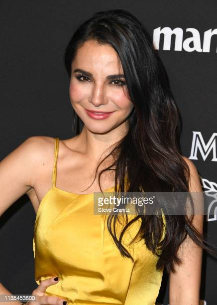 Martha Higareda arrives at the Marie Claire Change Makers Celebration at Hills Penthouse on March 12 2019 in West Hollywood California