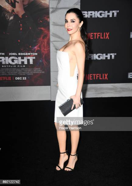 Martha Higareda arrives at the Premiere Of Netflix's 'Bright' at Regency Village Theatre on December 13 2017 in Westwood California
