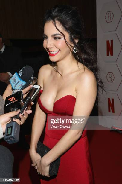 Martha Higareda attends the premiere of Netflix's 'Altered Carbon' at El Plaza Condesa on January 25 2018 in Mexico City Mexico