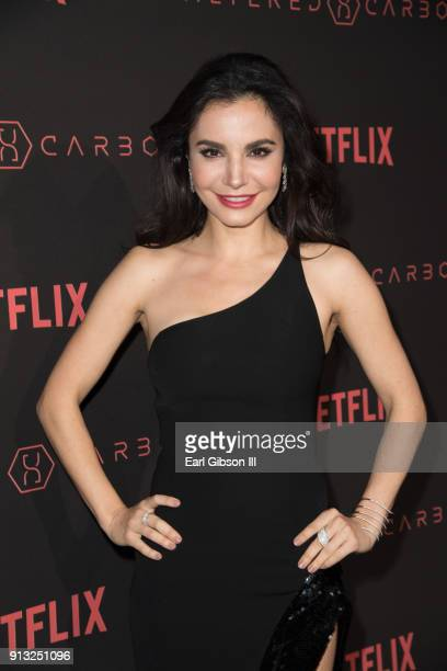 Martha Higareda attends the Premiere Of Netflix's Altered Carbon at Mack Sennett Studios on February 1 2018 in Los Angeles California