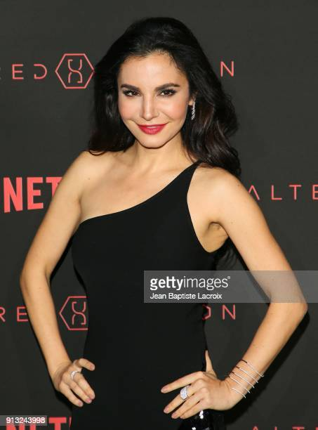 Martha Higareda attends the World Premiere of the Netflix Original Series 'Altered Carbon' on February 1 2018 in Los Angeles California
