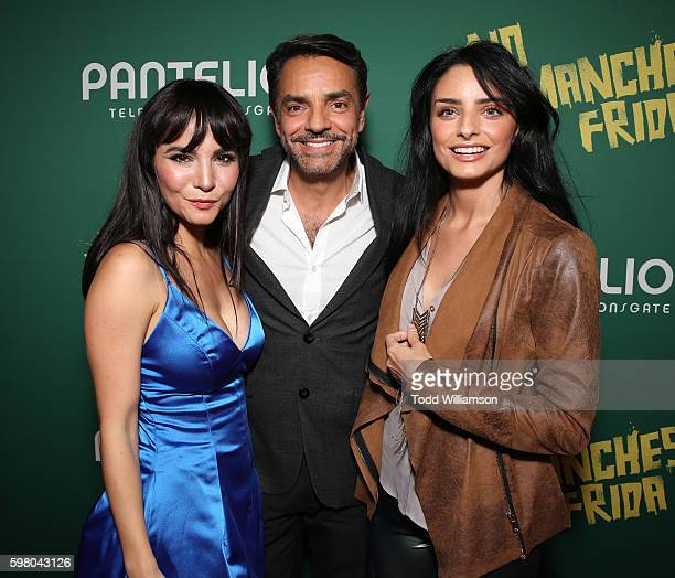 Martha Higareda Eugenio Derbez and Aislinn Derbez attend the World Premiere of Pantelion's 'No Manches Frida' on August 30 2016 in Los Angeles...