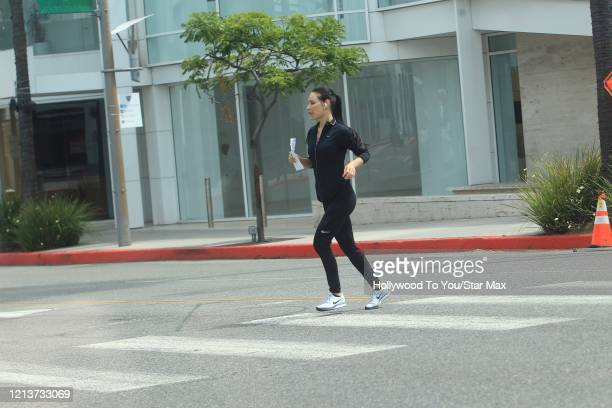 Martha Higareda is seen on May 18 2020 in Los Angeles CA