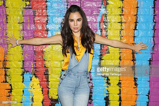 Martha Higareda is seen on the set of Despierta America to promote the film No Manches Frida at Univision Studios on September 1 2016 in Miami Florida