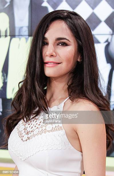 Martha Higareda on The Set Of Telemundo's Un Nuevo Dia to promote No Manches Frida at Telemundo Studio on September 2 2016 in Miami Florida