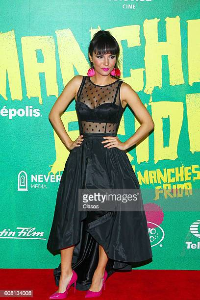 Martha Higareda poses for pictures on the red carpet prior No Manches Frida movie premiere on September 13 2016 in Mexico City Mexico