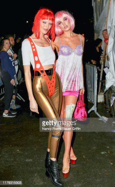 Martha Hunt and Elsa Hosk are seen on October 31 2019 in New York City