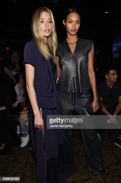 Martha Hunt and Lais Ribeiro attend Public School's Women's And Men's Spring 2017 Collection Runway Show at Cedar Lake on June 7 2016 in New York City