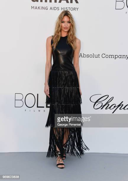 Martha Hunt arrives at the amfAR Gala Cannes 2018 at Hotel du CapEdenRoc on May 17 2018 in Cap d'Antibes France