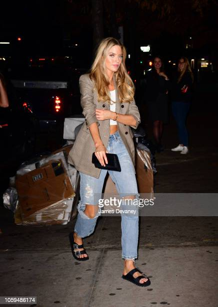 Martha Hunt arrives to Avenue on November 8 2018 in New York City