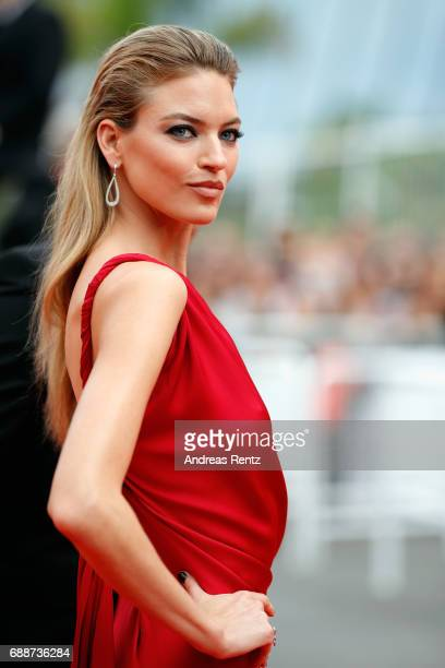 Martha Hunt attends 'Amant Double ' Red Carpet Arrivals during the 70th annual Cannes Film Festival at Palais des Festivals on May 26 2017 in Cannes...