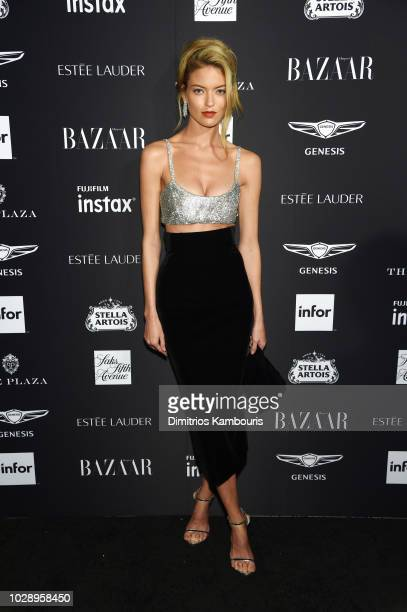 Martha Hunt attends as Harper's BAZAAR Celebrates ICONS By Carine Roitfeld at the Plaza Hotel on September 7 2018 in New York City