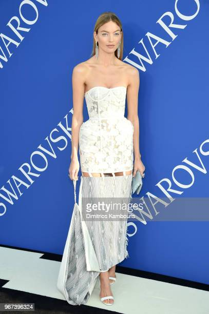 Martha Hunt attends the 2018 CFDA Fashion Awards at Brooklyn Museum on June 4 2018 in New York City