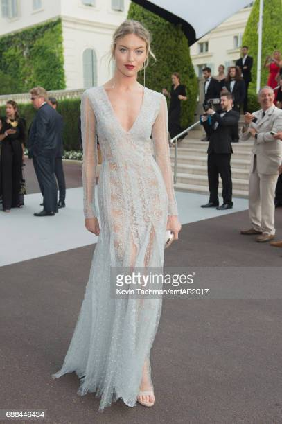 Martha Hunt attends the amfAR Gala Cannes 2017 at Hotel du CapEdenRoc on May 25 2017 in Cap d'Antibes France